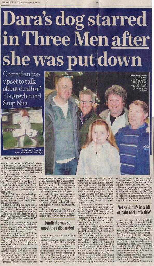 Irish Mail on Sunday - Snip Nua
